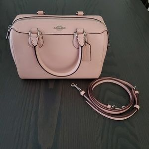 Coach top handle/cross body purse in pink